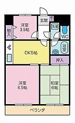 ライオンズマンション甲府中央[903号室]の間取り