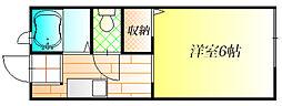 メゾンクレールS A[2階]の間取り