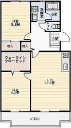 桐朋ハイツ[406号室]の間取り