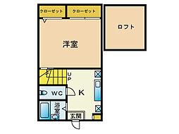 メゾンソレイユ井尻[1階]の間取り