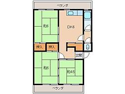 河鶴マンション[1階]の間取り