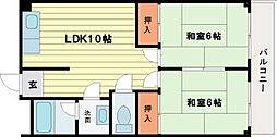 ロイヤルハイツ橿原[4階]の間取り