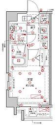 都営浅草線 東日本橋駅 徒歩8分の賃貸マンション 2階1Kの間取り