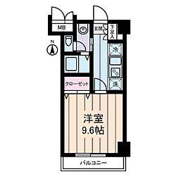 パストラーレ三ノ輪[1階]の間取り