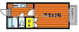 JR山陽本線 西川原駅 徒歩3分の賃貸マンション 3階1Kの間取り