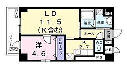 ウェスト宮ノ下[2階]の間取り