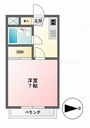 パインツリーハウス[106号室]の間取り