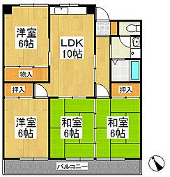 江崎第7ビル[5階]の間取り