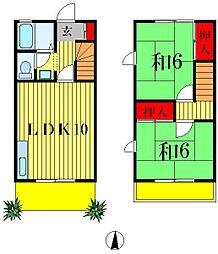 [一戸建] 千葉県松戸市栄町西3丁目 の賃貸【千葉県 / 松戸市】の間取り