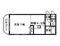 サンハウス白石[305号室]の間取り