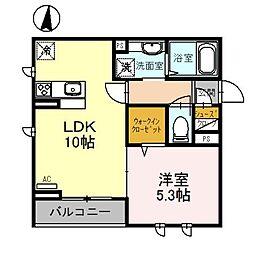 桜DKハイム[305号室]の間取り