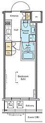 プラウドフラット木場II 5階1Kの間取り