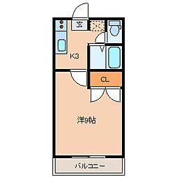 NSハイツII[101号室]の間取り