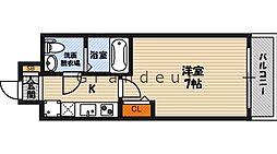 No77 HANATEN 002 12階1Kの間取り