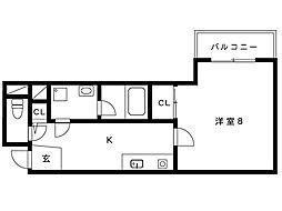 阪神本線 深江駅 5階建[302号室]の間取り