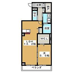 ヴェルム東別院[2階]の間取り