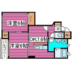 北海道札幌市北区東茨戸一条3丁目の賃貸アパートの間取り