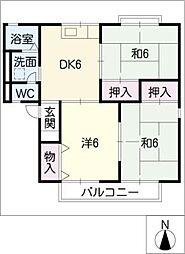 セジュール青木A棟[2階]の間取り