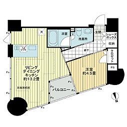 レグノ・プレミア高輪[5階]の間取り