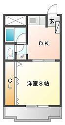 曙コーポ[2階]の間取り