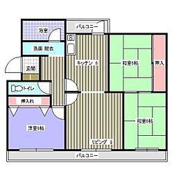 福岡県福岡市西区大町団地の賃貸マンションの間取り