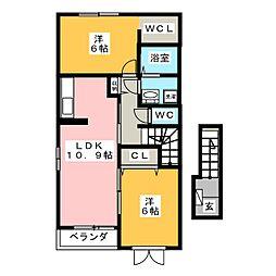 エアリーガーデン[2階]の間取り