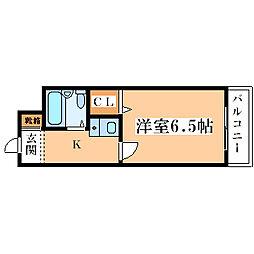エーデルワイス塚本[5階]の間取り