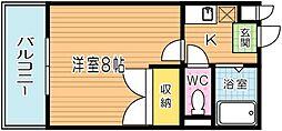 ちいさな風[304号室]の間取り