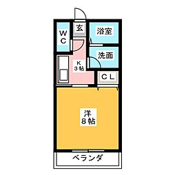 セントレアコート[1階]の間取り