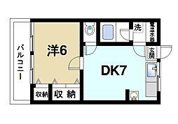 マンション ヒライ[2階]の間取り