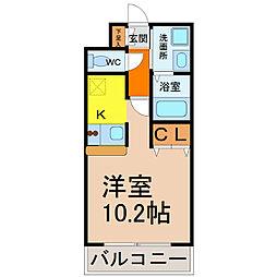 プレサンス名古屋駅前ヴェルロード[10階]の間取り