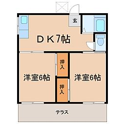 神奈川県鎌倉市二階堂の賃貸アパートの間取り