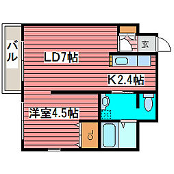 リトルズさっぽろ福住[2階]の間取り