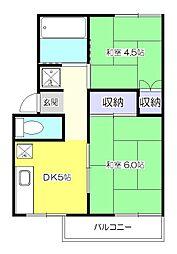 サンシャイン細田[2階]の間取り