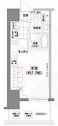 パークハビオ渋谷 13階ワンルームの間取り