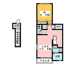 ヤマトサンシャインM[2階]の間取り