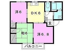フォーレス森田[D102号室]の間取り