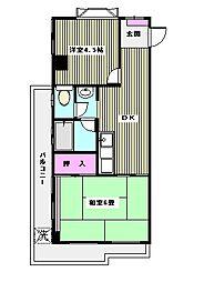 東京都板橋区徳丸6丁目の賃貸マンションの間取り