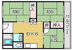 ユーハイツアヤメB棟[1階]の間取り