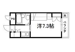 セレーネ田辺4[2階]の間取り