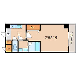 JR東海道・山陽本線 立花駅 徒歩5分の賃貸マンション 5階1Kの間取り