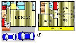 [一戸建] 東京都葛飾区水元3丁目 の賃貸【東京都 / 葛飾区】の間取り