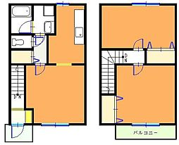 [テラスハウス] 千葉県船橋市南三咲3丁目 の賃貸【/】の間取り