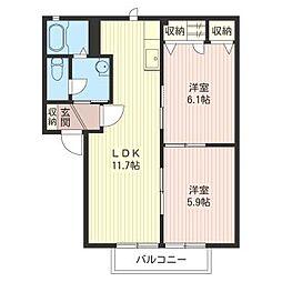 リンドバーグ[1階]の間取り