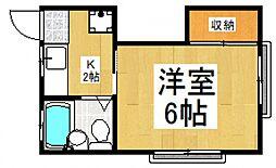 コーポラスミハラI[2階]の間取り