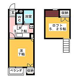 セイラBOX東貝沢B[2階]の間取り