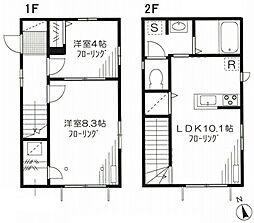 西武池袋線 東長崎駅 徒歩8分の賃貸一戸建て 1階2LDKの間取り