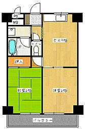 市両マンション[2階]の間取り