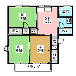 エヤナ蔵V[2階]の間取り