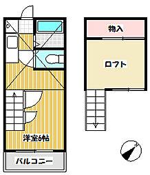 サンライフイイジマ[202号室]の間取り